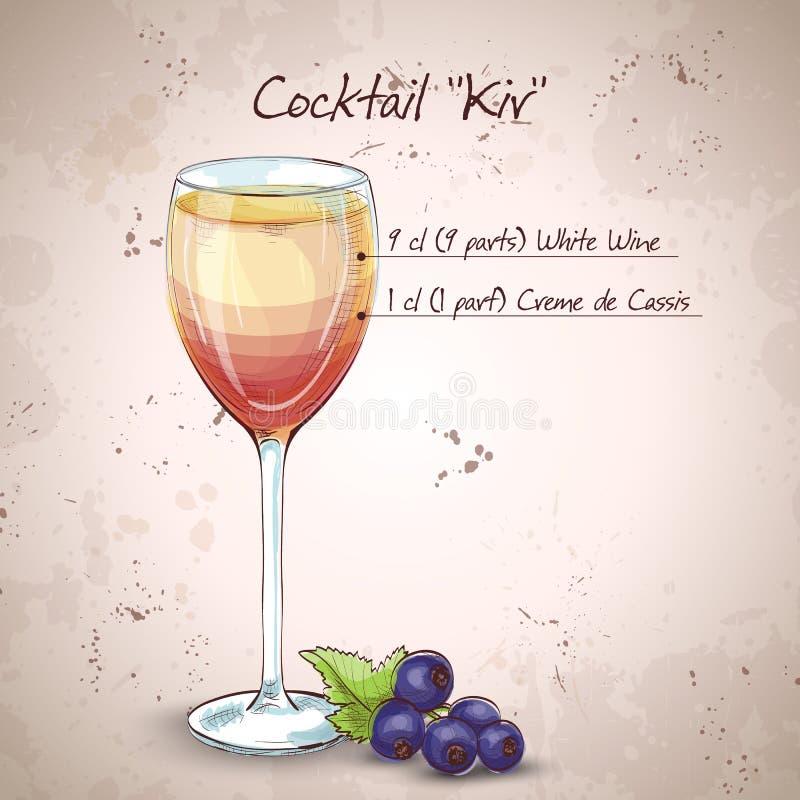 Kiru alkoholu koktajl royalty ilustracja