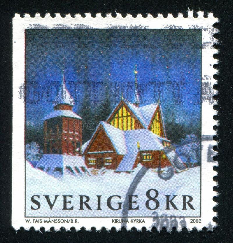 Kiruna kyrka royaltyfria bilder