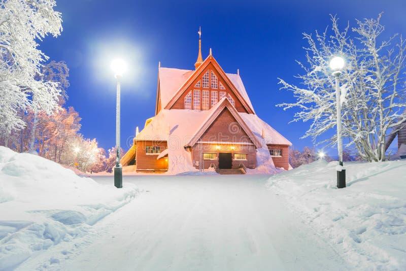 Kiruna kyrkliga Sverige royaltyfri bild