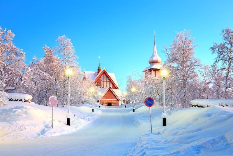 Kirunakathedraal Zweden royalty-vrije stock foto