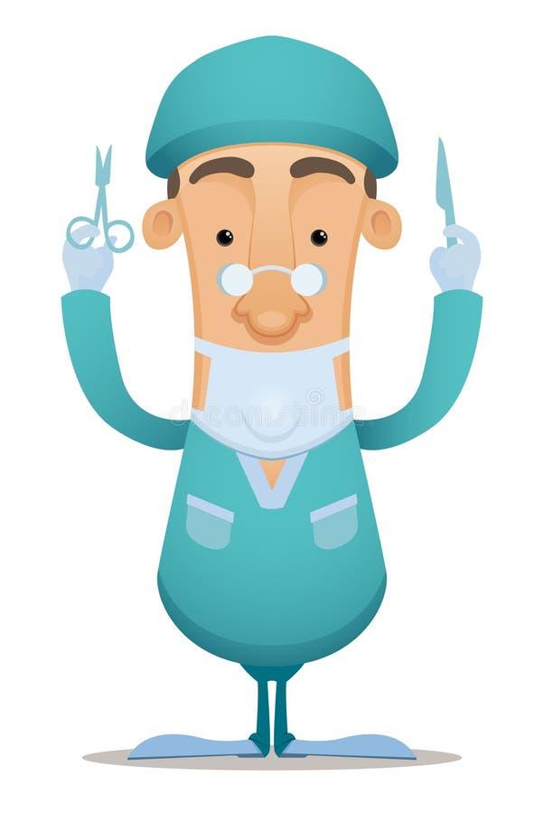 kirurg stock illustrationer