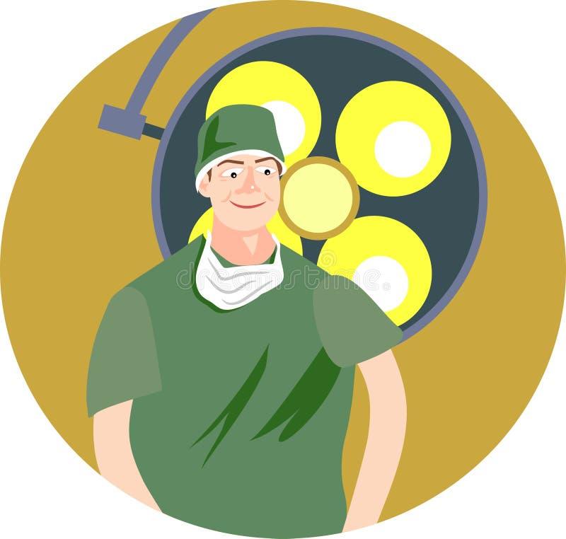 kirurg vektor illustrationer