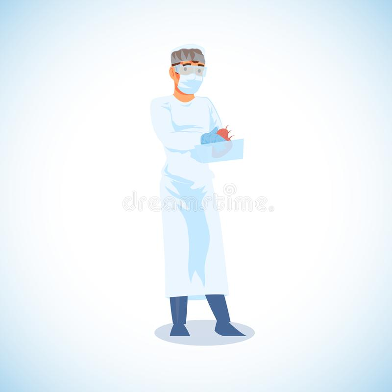 Kirurg Ready för hjärtatransplantationvektor vektor illustrationer
