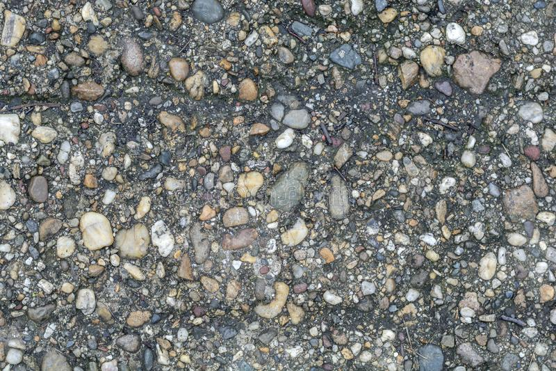 Kiselstenen stenar naturlig adged texturbakgrund för cement arkivbilder