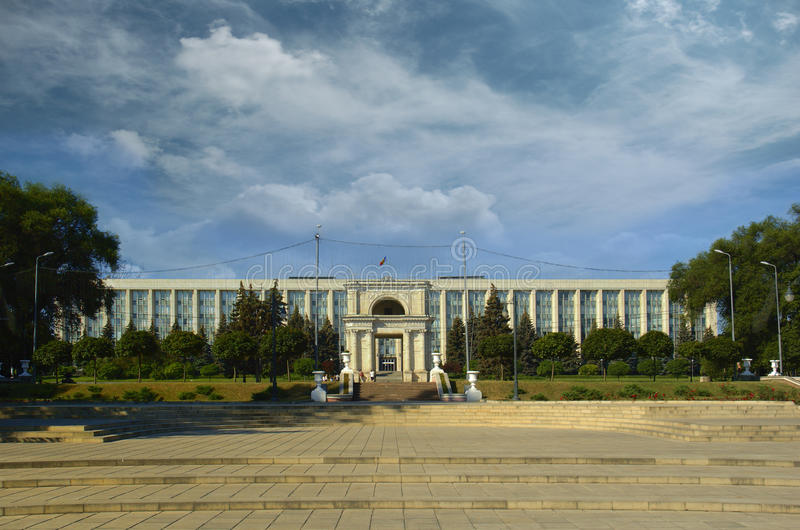 Kishinev, centre de la ville images stock