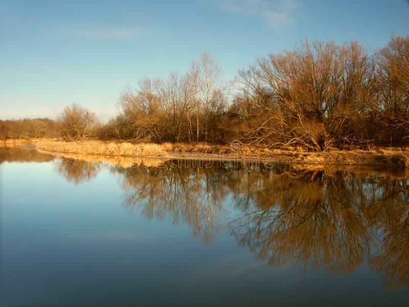 Kishwaukee Fluss in Illinois lizenzfreies stockfoto