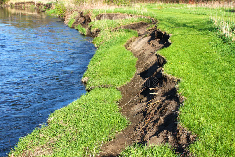 Kishwaukee-Flussbank-Abnutzung Illinois stockbilder