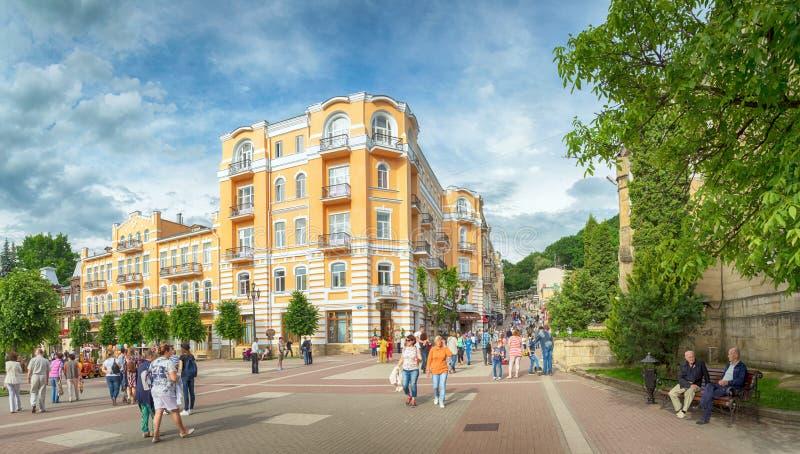 Kislovodsk Paesaggio della città Vista panoramica fotografie stock