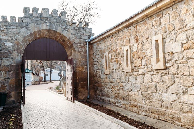 Kislovodsk, Stavropol-Gebiet/Russland - 15. Dezember 2018: Lokale Festung Überlieferung Kislovodsk-Museums stockbild