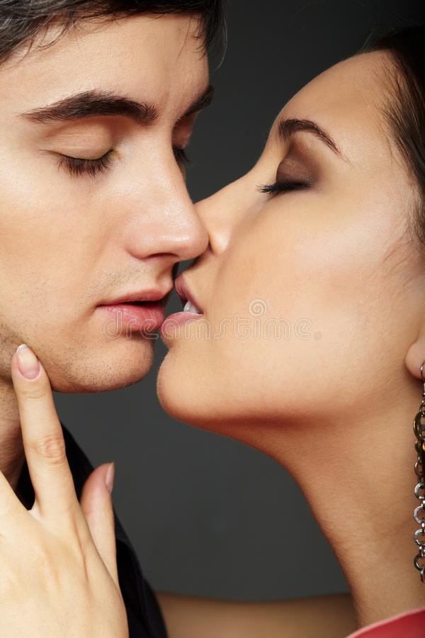 Download Kiss stock photo. Image of male, pair, adult, gorgeous - 21260186