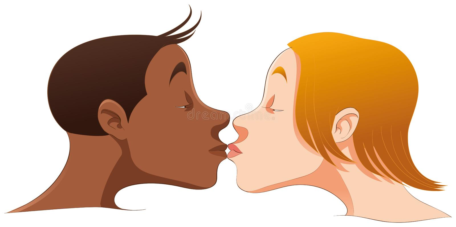 Download The kiss stock illustration. Illustration of black, cute - 8300726