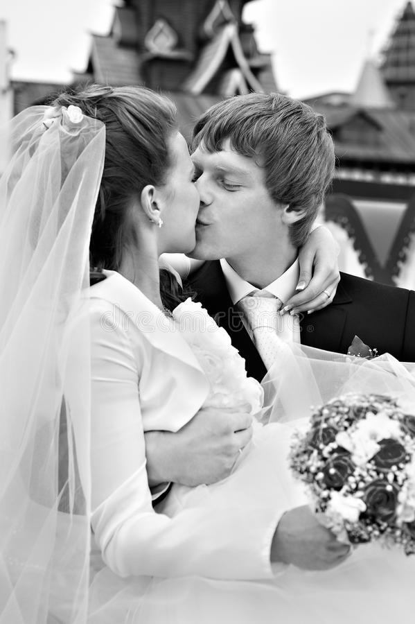 Download Kiss bride and groom stock image. Image of girl, marriage - 14162409
