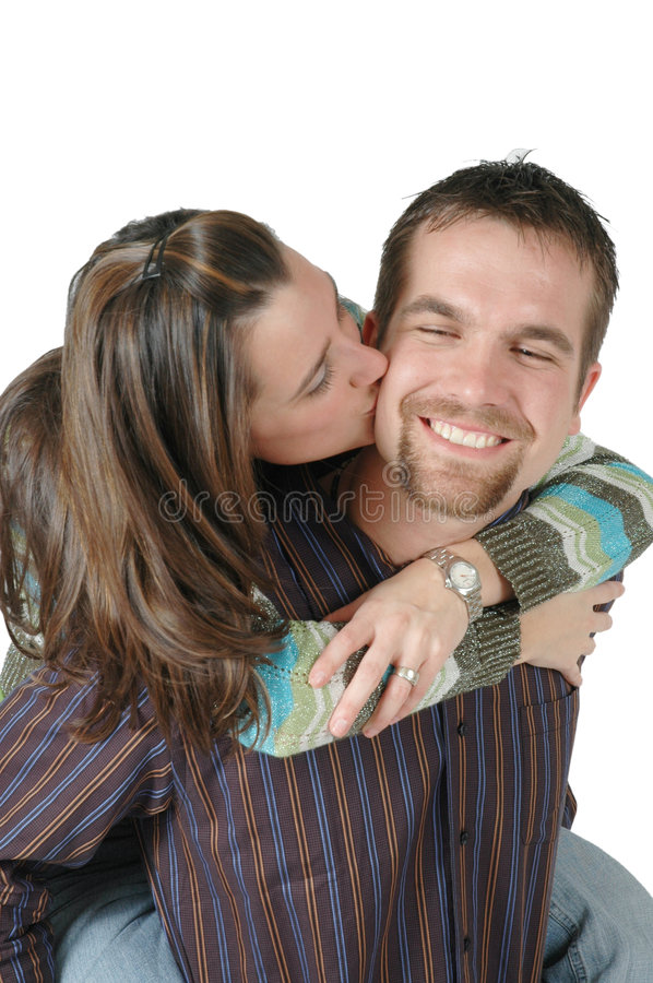 Download Kiss on the Cheek stock image. Image of communication, feelings - 627147