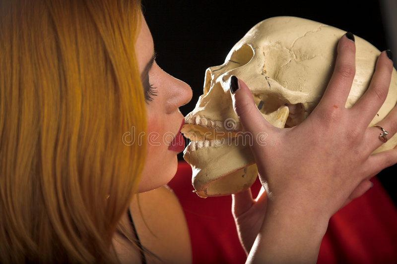 Kiss with death royalty free stock photo