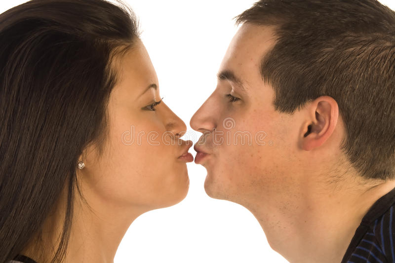 Download Kiss lip stock photo. Image of multicultural, caucasian - 13362738