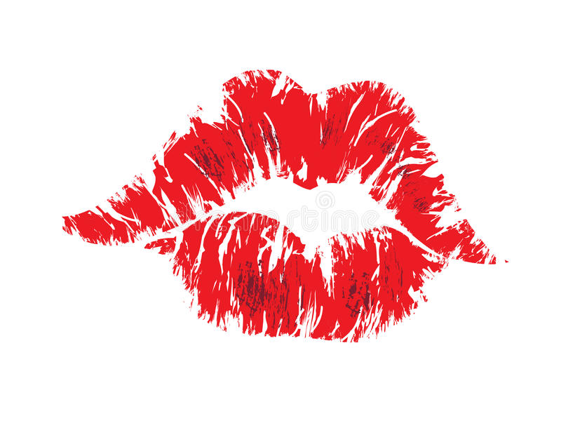 Kiss lips. Vector abstract illustration