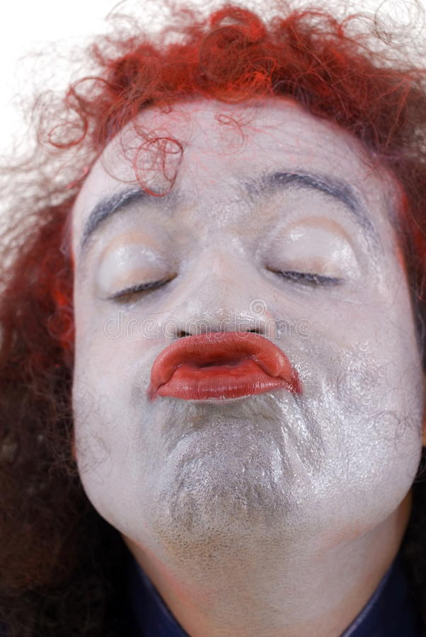 Download Kiss me stock photo. Image of clown, crazy, ugly, portrait - 10637536