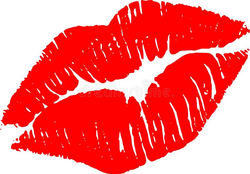 Kiss Me red stock image