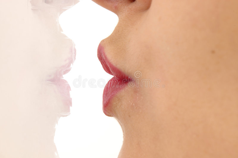 Kiss Mirror royalty free stock photography