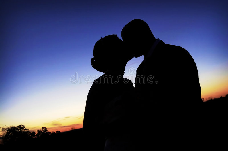 Download The kiss silhouette stock image. Image of husband, women - 2989001