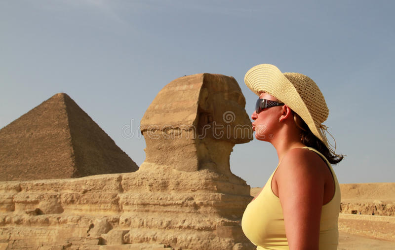 Kiss with the Sphinx royalty free stock photo
