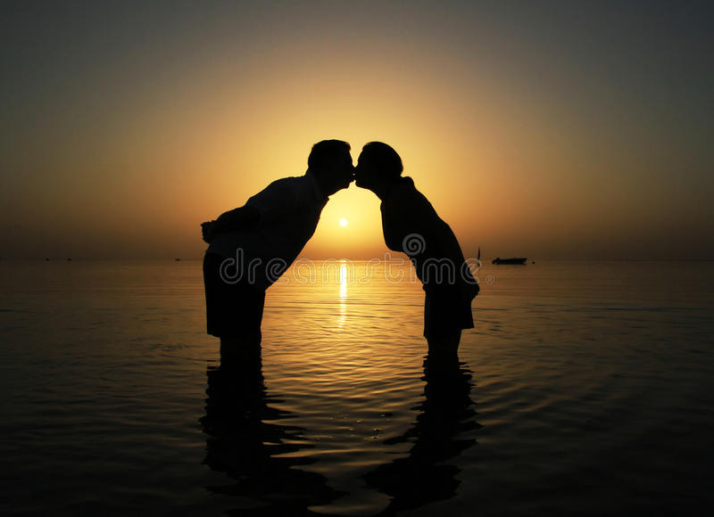Download Kiss at  sunrise in Egypt stock image. Image of outdoor - 13496955