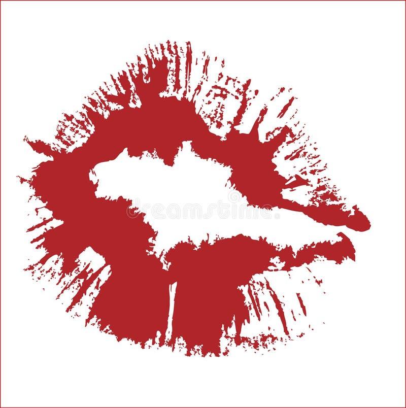 KISS VECTOR royalty free stock photography