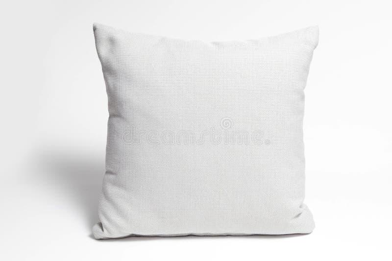 Kissen auf Weiß stockbild
