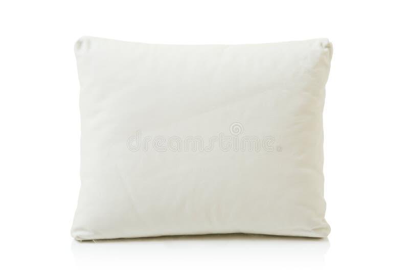 Kissen des weißen Leders lizenzfreies stockfoto