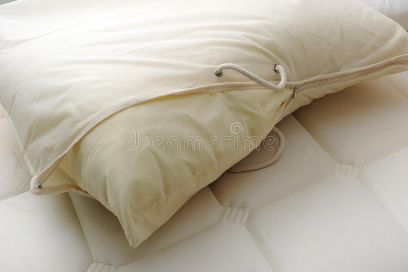 Kissen mit Abdeckung lizenzfreie stockbilder