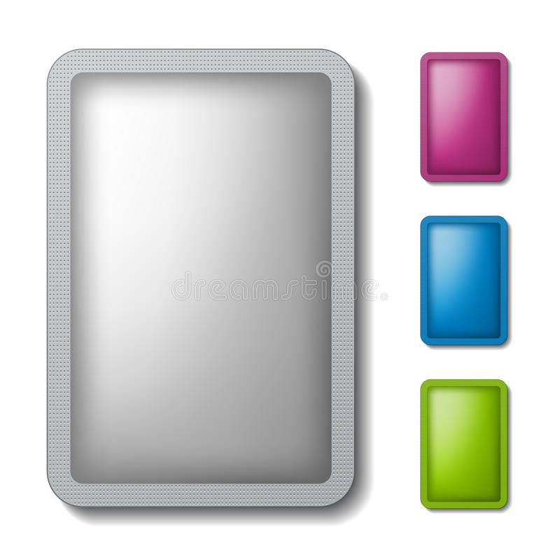 Kissenverpackungs-Silberfarbe vektor abbildung