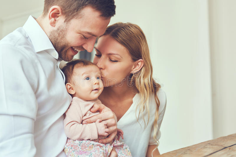 Kisses for baby royalty free stock photo
