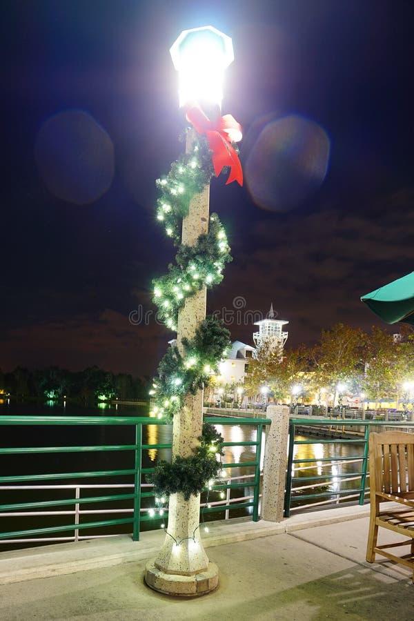 Kissimmee noc: boże narodzenie dekoracja fotografia royalty free
