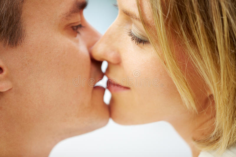 Download Kissing stock photo. Image of lover, focus, kiss, affection - 23212854