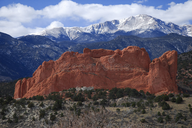 Kissing Camels and Pike's Peak royalty free stock photography