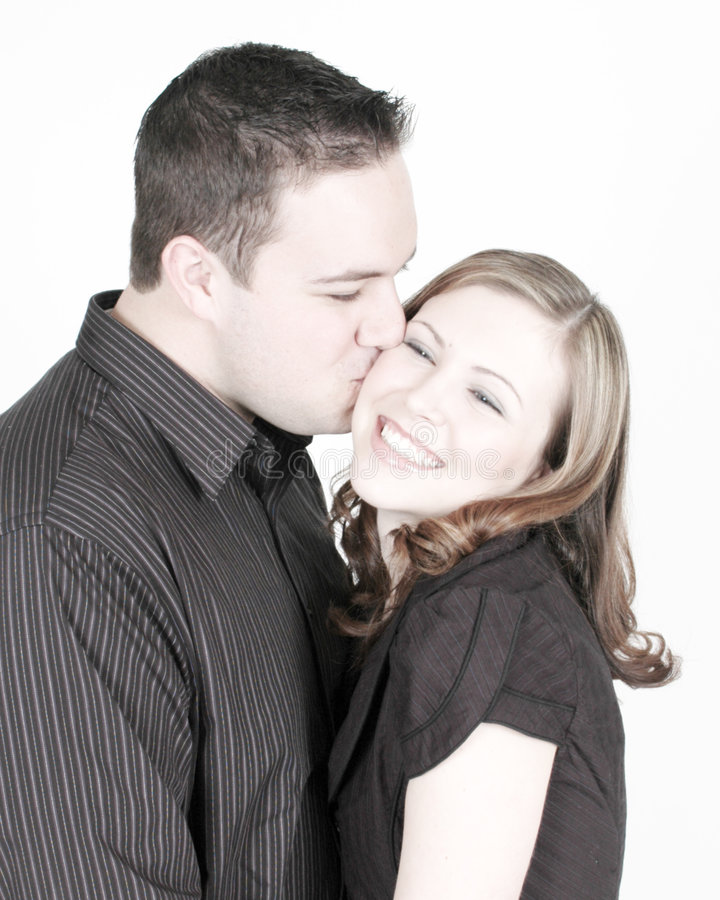 Download Kissing Cheek stock photo. Image of male, togetherness - 4582020