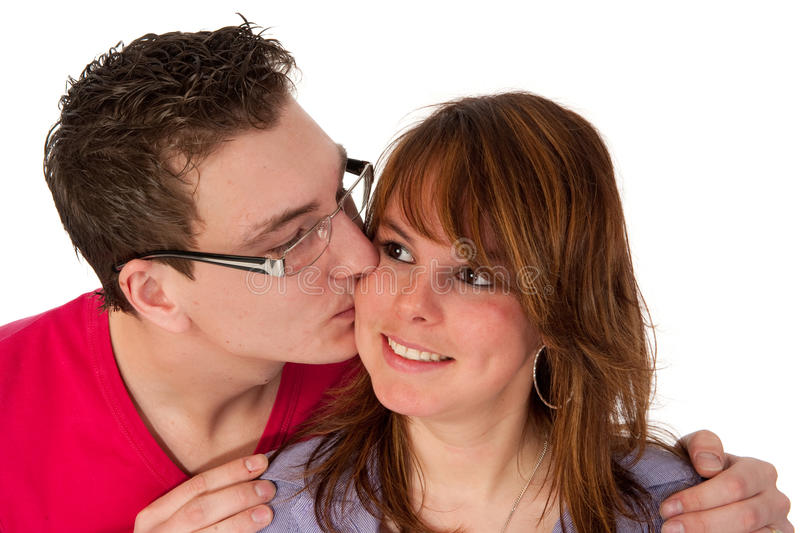 Download Kissing couple stock photo. Image of studio, youth, adult - 13748460