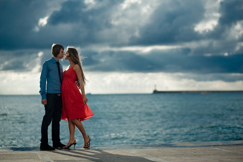 Download Kissing couple stock image. Image of sexual, lips, dress - 5843521