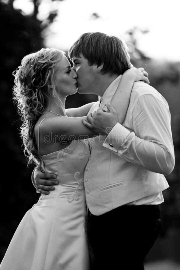 Download Kissing Couple stock photo. Image of outdoors, beauty - 7162280