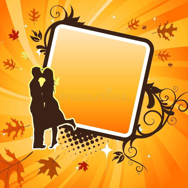 Kissing Couple Vector Royalty Free Stock Photography
