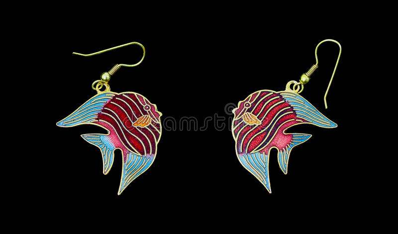 Download Kissing Fish Earrings stock image. Image of costume, background - 22076761