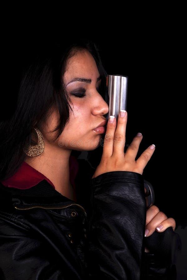 Download Kissing gun barrel black. stock photo. Image of black - 15990918