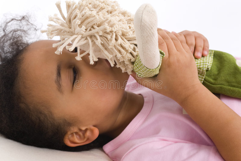 Download Kissing My Favorite Doll stock photo. Image of young, comfort - 2157630