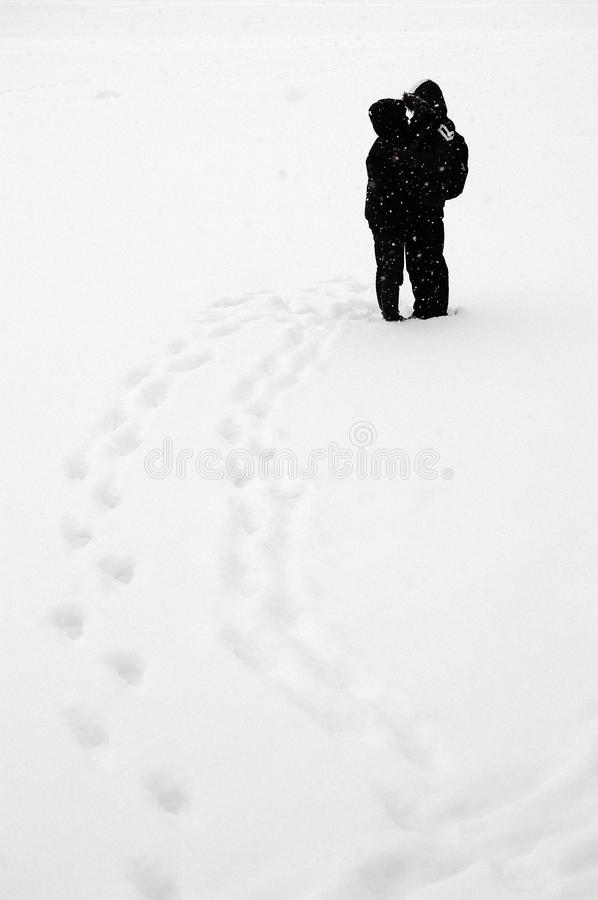 Download Kissing in snow stock photo. Image of couple, people - 13207834