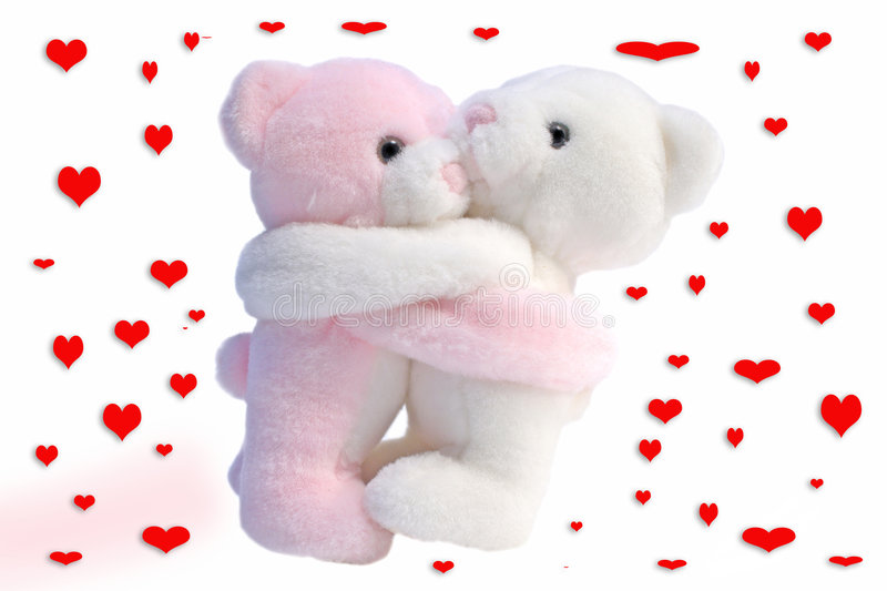 Download Kissing Valentine bears stock photo. Image of romantic - 3975316