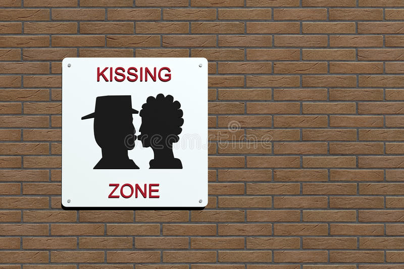Kissing zone urban sign