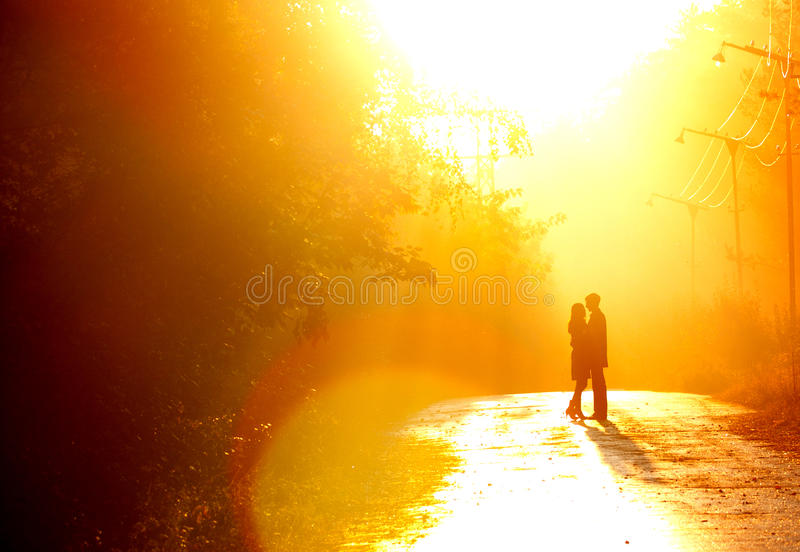 Kisssing couple royalty free stock image