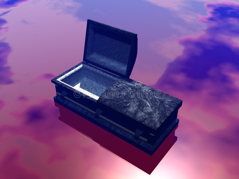Kist, doodskist. royalty-vrije illustratie