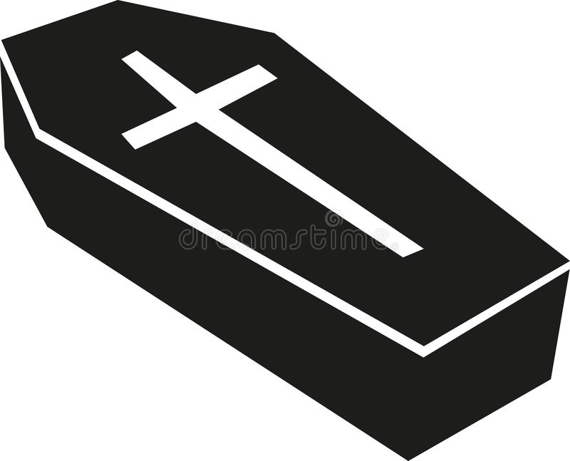 Kist met groot kruis vector illustratie