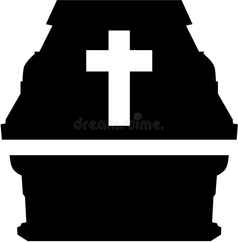 Kist met kruis stock illustratie